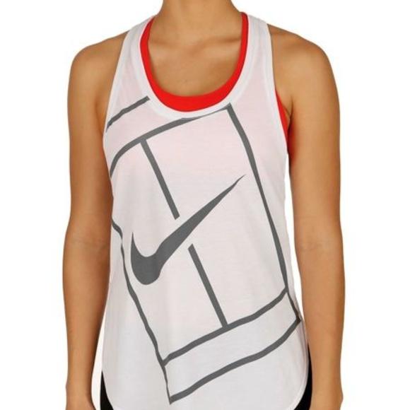 40a212507c Nike Dri Fit Tank Top White Sport Baseline Court M.  M 5b102b67d39ca2aa6eb462b8